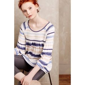 Anthropologie Meadow Rue Striped Peasant Top XS